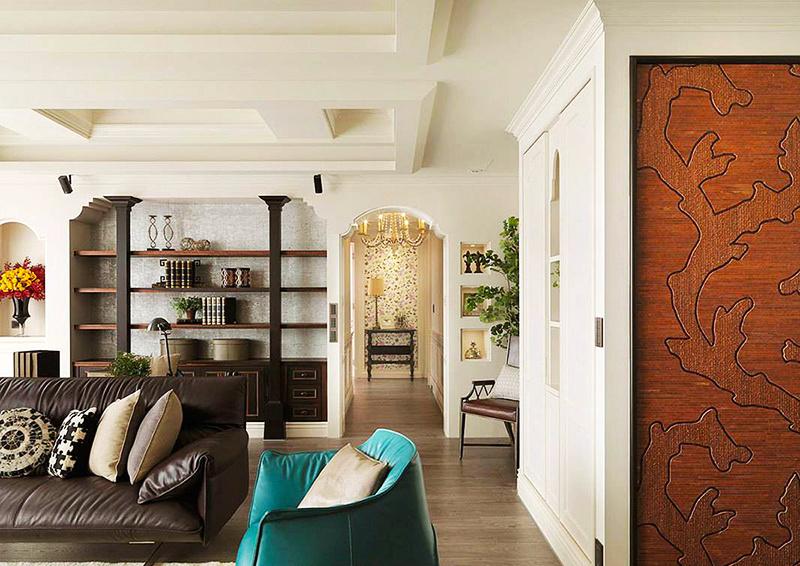 东南亚风格混搭时尚别墅室内装修效果图案例