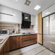 12平米现代风格整体厨房装修效果图赏析