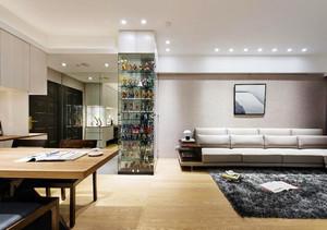 77平米简约风格灰色系两居室装修效果图赏析