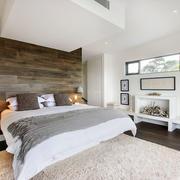 现代简约风格时尚卧室背景墙装修效果图
