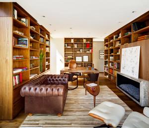 美式风格大户型精致书房设计装修效果图赏析
