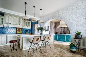 田园风格清新风格开放式厨房装修效果图欣赏