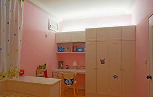 126平米田园风格时尚三室两厅室内装修效果图案例