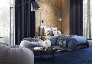 现代风格简约时尚卧室背景墙装修效果图大全