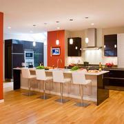 现代简约风格时尚开放式厨房装修效果图赏析