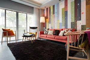 94平米现代风格时尚三室两厅一卫装修效果图案例