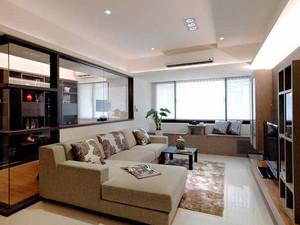 63平米现代简约风格一居室小户型室内装修效果图案例
