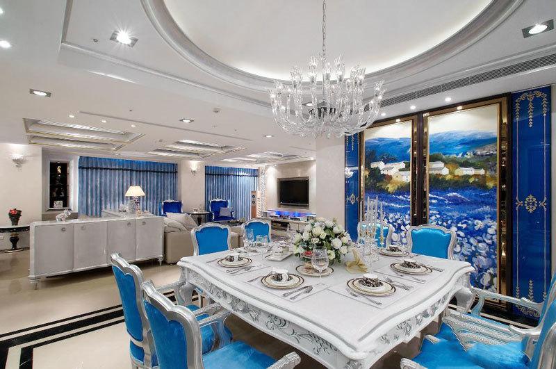 新古典主义风格大户型精美餐厅装修效果图赏析