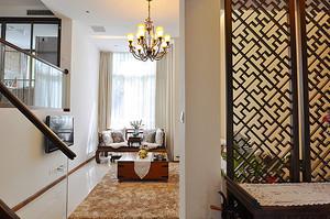 中式风格古典精美大户型室内装修效果图案例