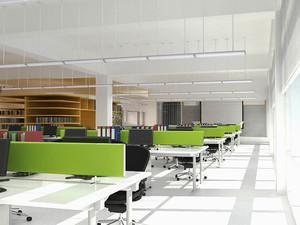 现代简约风格清新办公室装修效果图