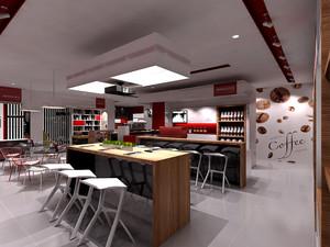 简约风格时尚创意咖啡厅装修效果图