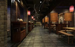 中式风格精致古典中餐厅装修效果图