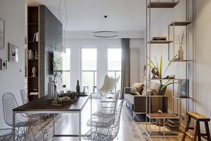 75平米现代风格精致公寓设计装修效果图赏析