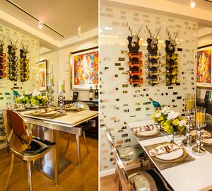 112平米混搭风格时尚三室两厅室内装修效果图赏析