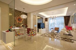 114平米简欧风格精美三室两厅室内装修效果图案例