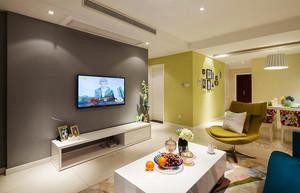 99平米现代简约风格三室两厅室内装修效果图案例