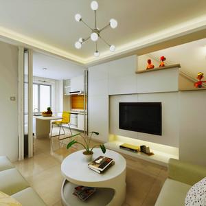 51平米现代简约风格loft装修效果图赏析