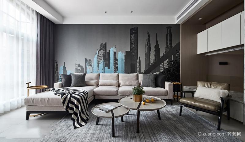 现代风格时尚精美客厅背景墙装修效果图赏析