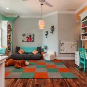 美式风格大户型精美儿童房装修效果图欣赏