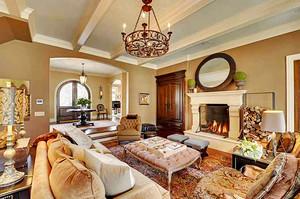 310平米欧式风格典雅别墅室内装修效果图案例