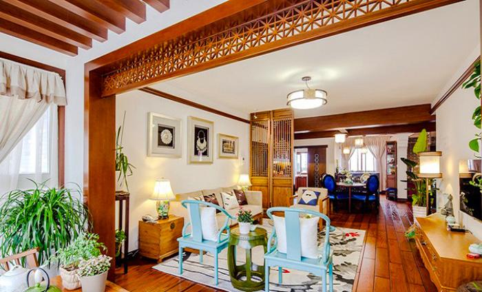 100平米中式风格古典时尚室内装修效果图赏析