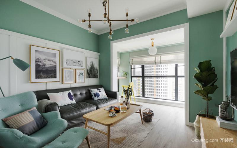 清新风格时尚客厅装修效果图欣赏