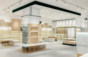 现代简约风格超市展柜装修效果图
