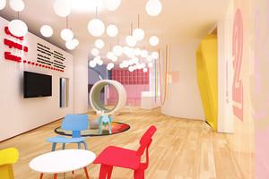 现代简约风格可爱幼儿园教室布置装修效果图