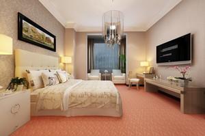 现代简约风格精美宾馆客房设计装修效果图