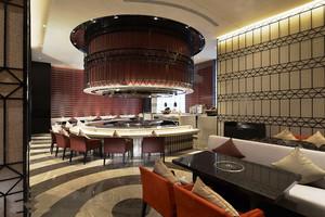 现代风格高档精美餐厅吧台装修效果图