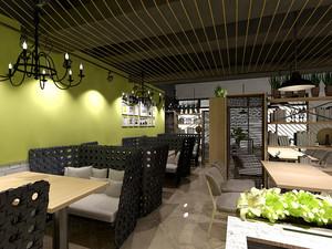 75平米后现代风格精致咖啡厅设计装修效果图