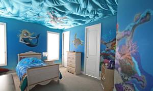 欧式风格美人鱼主题儿童房装修效果图欣赏