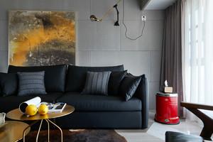 85平米后现代风格灰色系两室两厅装修效果图