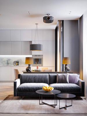 68平米现代风格精美单身公寓装修效果图欣赏