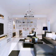现代简约风格精美客厅装修效果图鉴赏