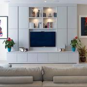 现代简约风格时尚客厅电视背景墙装修效果图