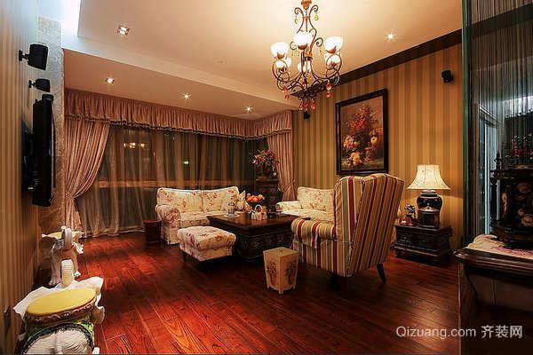 100平米美式田园风格精美室内装修效果图案例