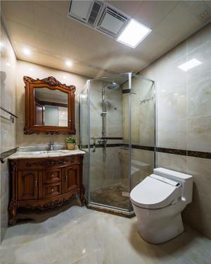 12平米美式风格精致卫生间淋浴房装修效果图