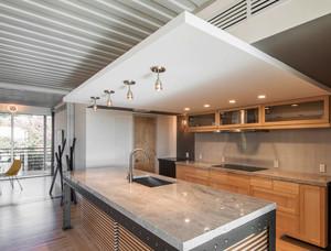 现代风格精致开放式厨房吧台装修效果图赏析