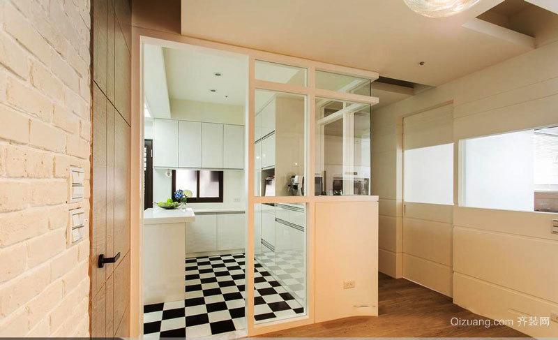 现代简约风格厨房隔断设计装修效果图
