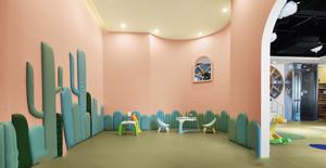 现代风格可爱时尚幼儿园教室布置效果图