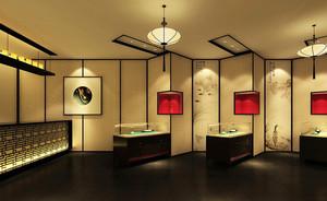 中式风格精致珠宝店展柜设计效果图