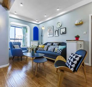 79平米北欧风格清新时尚两室两厅室内装修效果图
