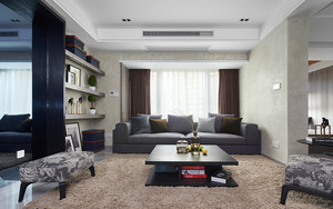 139平米后现代风格灰色系大户型室内装修效果图案例