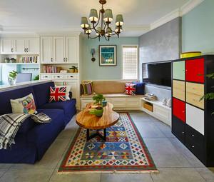 120平米混搭风格时尚多彩室内装修效果图案例