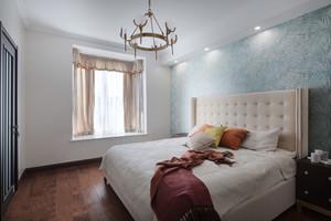 简欧风格清新时尚卧室背景墙装修效果图鉴赏
