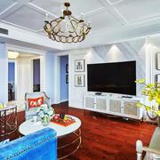 欧式风格精美华丽客厅电视背景墙装修效果图