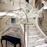欧式风格精美大理石楼梯设计装修效果图赏析