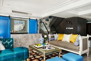 187平米清新风格时尚复式楼室内装修效果图案例