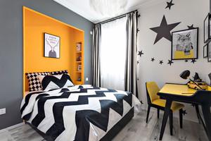 20平米现代风格时尚创意卧室装修效果图